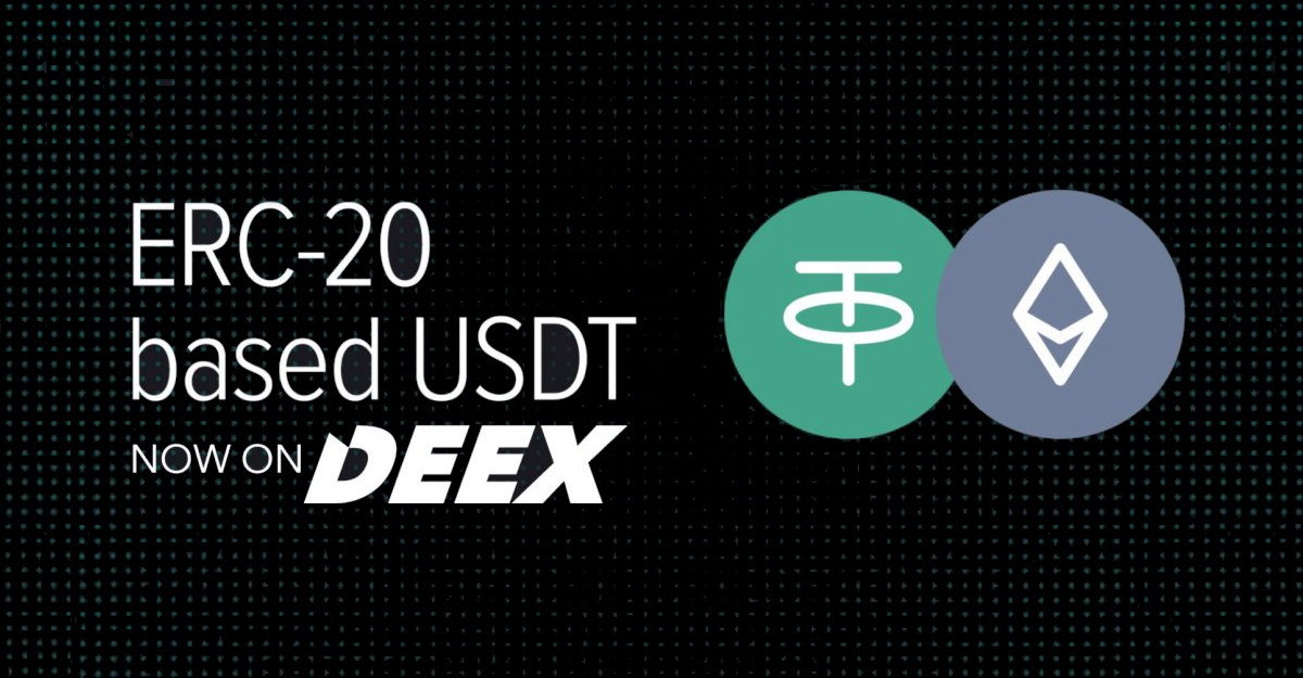 Listing of Tether ERC-20 on DEEX Exchange